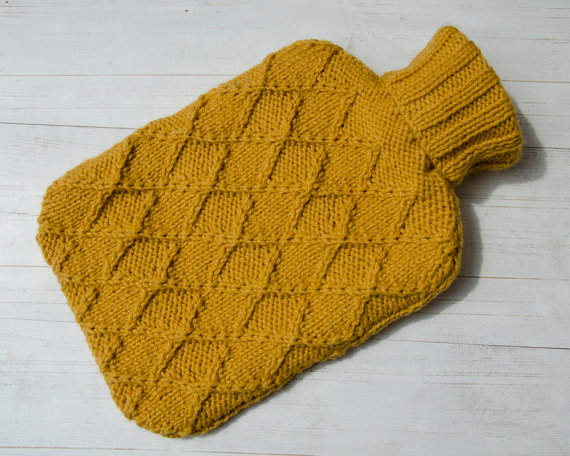 knitted hot water bottle