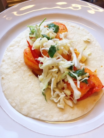 Baja Shrimp Pineapple Tacos; made in just 10 minutes!