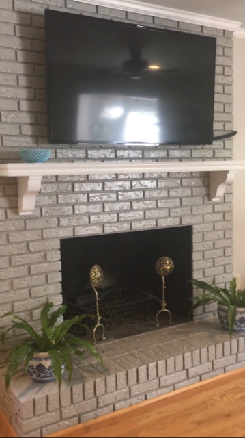 The Fireplace is something we are going to look into changing.  We do not like having the brick totally exposed and would like to hang art rather than a TV.