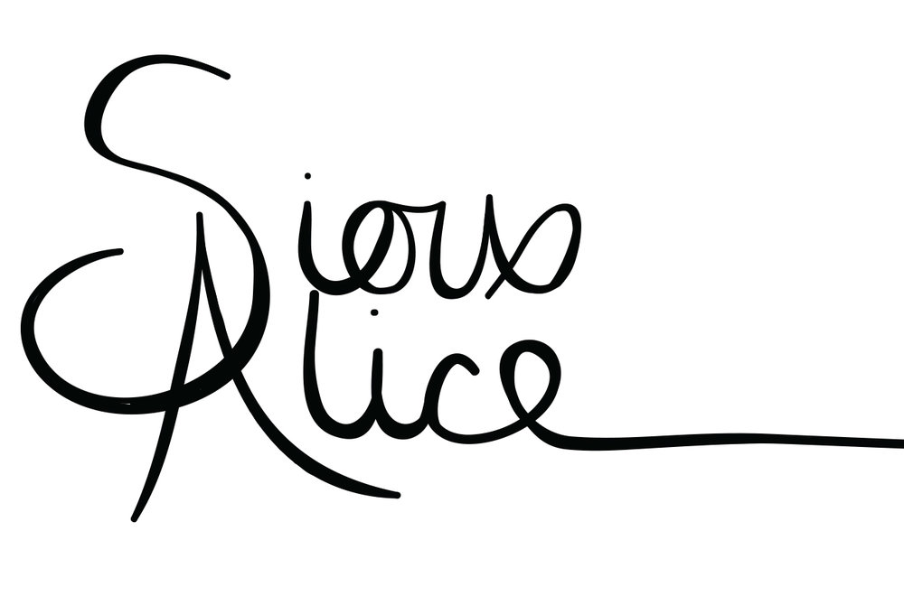 Logo 3 - 2015  I made this logo when I created my original website on Blogger. The line after the E went all the way under my page tabs. I was getting more into hand lettering and wanted something curly but I soon realised the the long E didn't fit very well on anything except my website.