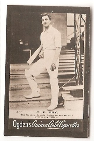 The Incredible C.B Fry. Played Cricket & Football for England, played Rugby for Barbarians, held the world record for the High Jump, represented India in the League of Nations and turned down the Throne of Albania. In his 70s he could still do his party trick of jumping backwards on to a mantelpiece from standing.