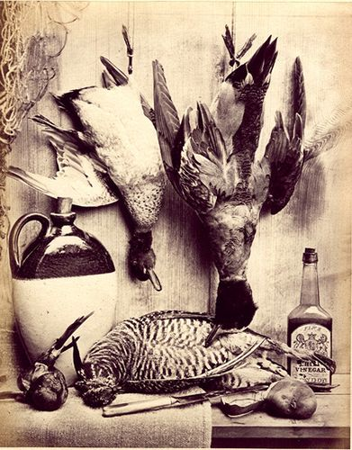 Still Life with Game & Vinegar - W.Bailey (1860s) (via)