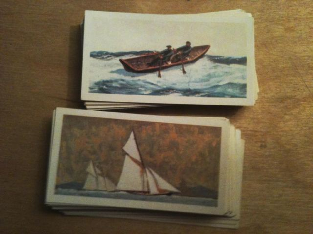 Boot Sale find - 'The Saga of Ships'. Old Brooke Bond Tea Cards (Set of 50) Illustration David Cobb