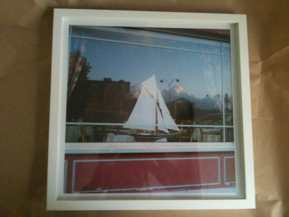 Back from the framers.