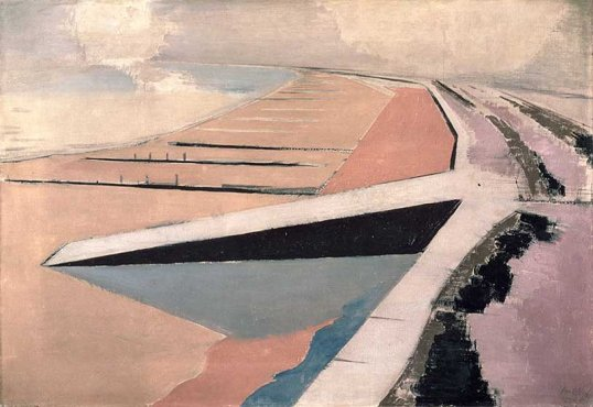 'The Shore at Dymcurch' (1923) by  Paul Nash
