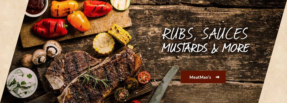 MeatMan's Rubs, Marinades, Mustards and More