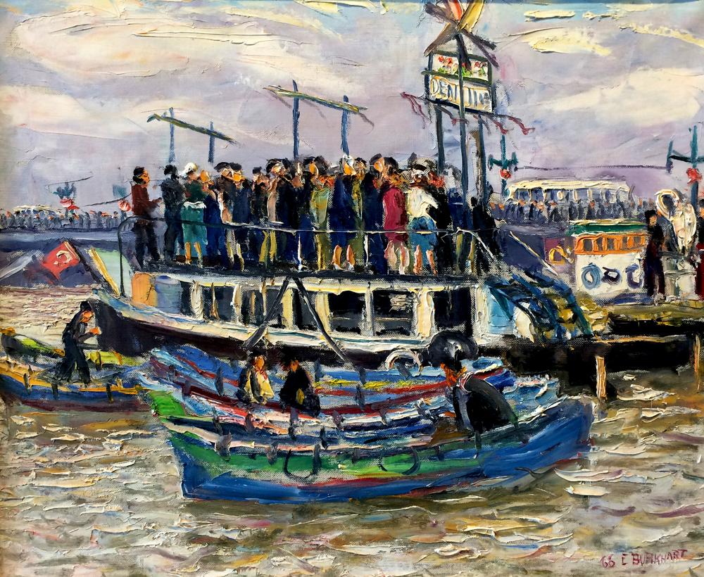 Emerson Burkhart, 'Ferry Boat, Caspian Sea,' 1966