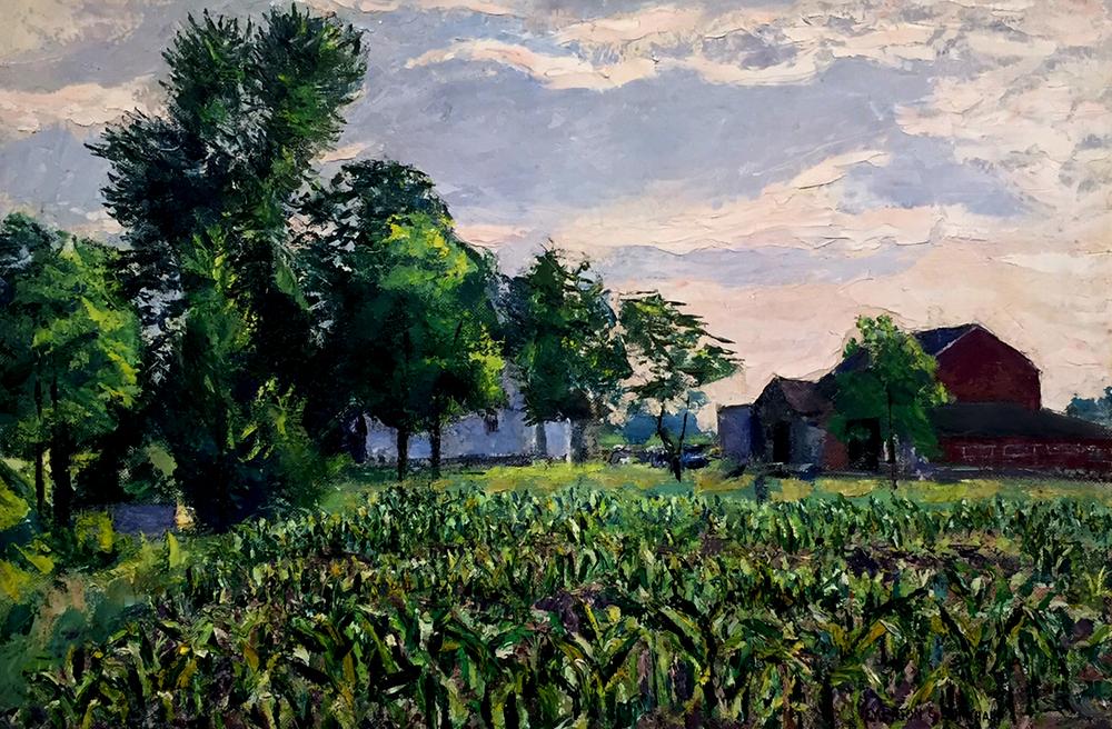 Emerson Burkhart, 'Farm, New Albany Ohio'