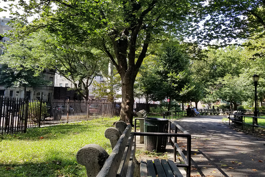 Greenpoint BKLYN - Parks are the best places to reflect.