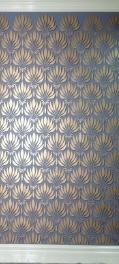 Olive Leaf Stencil Wall