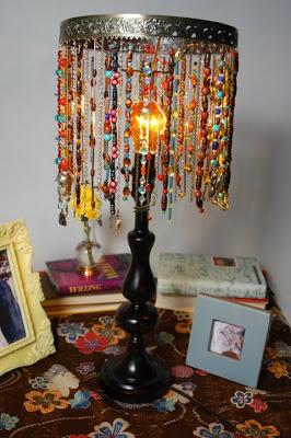 Cathie Filian Beaded Lamp