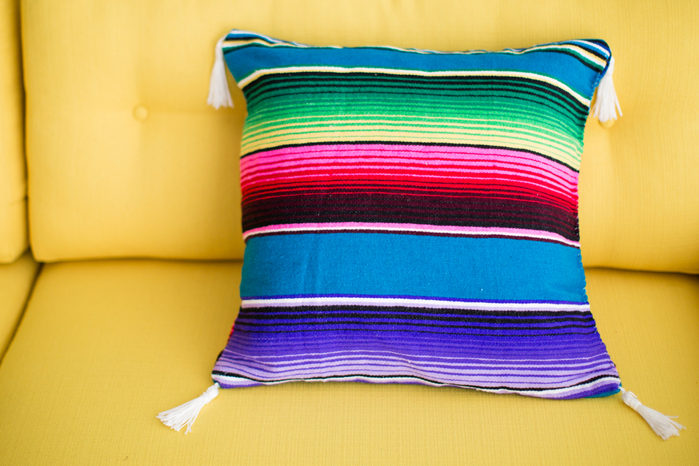 Brit+Co DIY Poncho Pillow