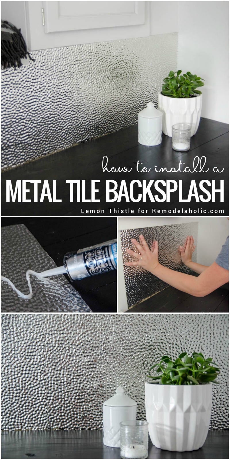 ReModelAholic Metal Backsplash