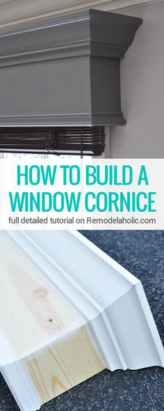 ReModelaholic DIY WindowCornice