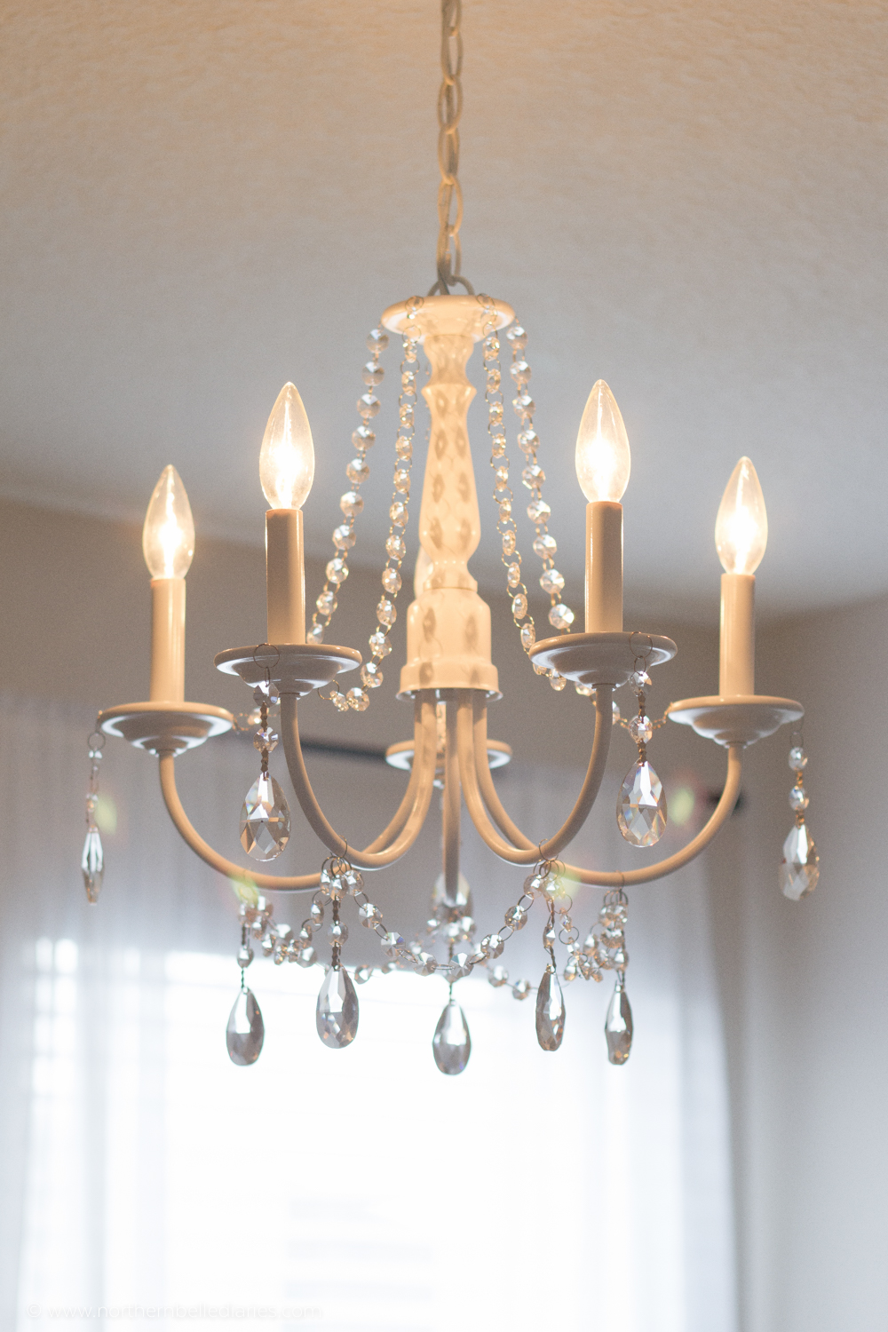 NorthernBelleDiaries Chandelier