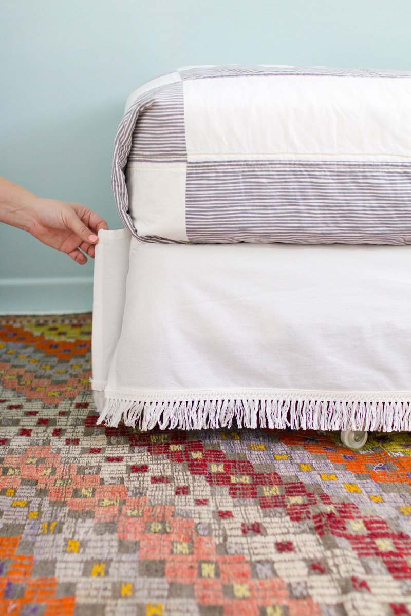 A Beautifulmess DIY Bed Skirt