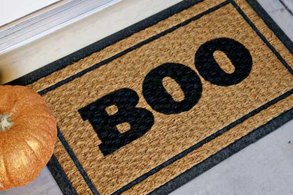 DIY Boo Doormat Credit Celebrations