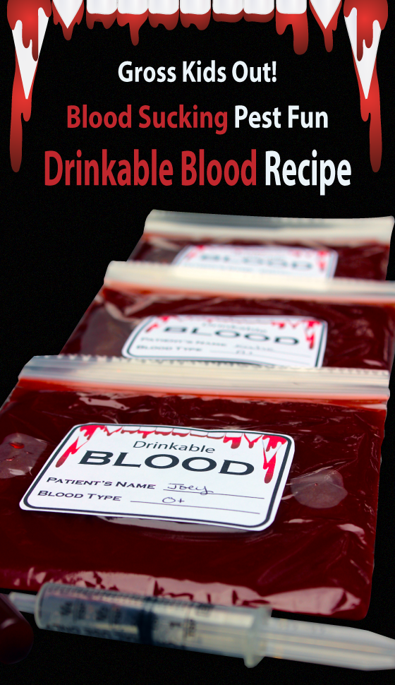 DIY Blood Recipe Credit Cutefetti
