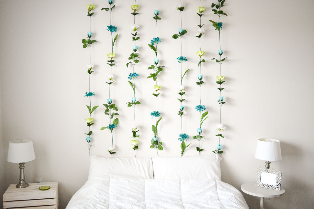DIY Flower Headboard By SweetTeal