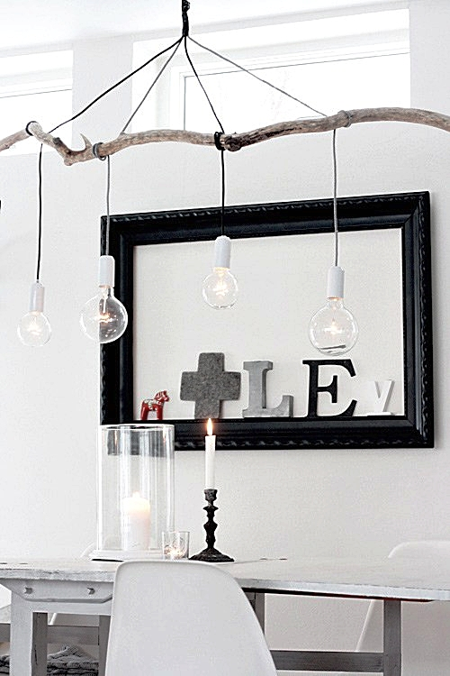 DIY Branch Light By ApartmentTherapy