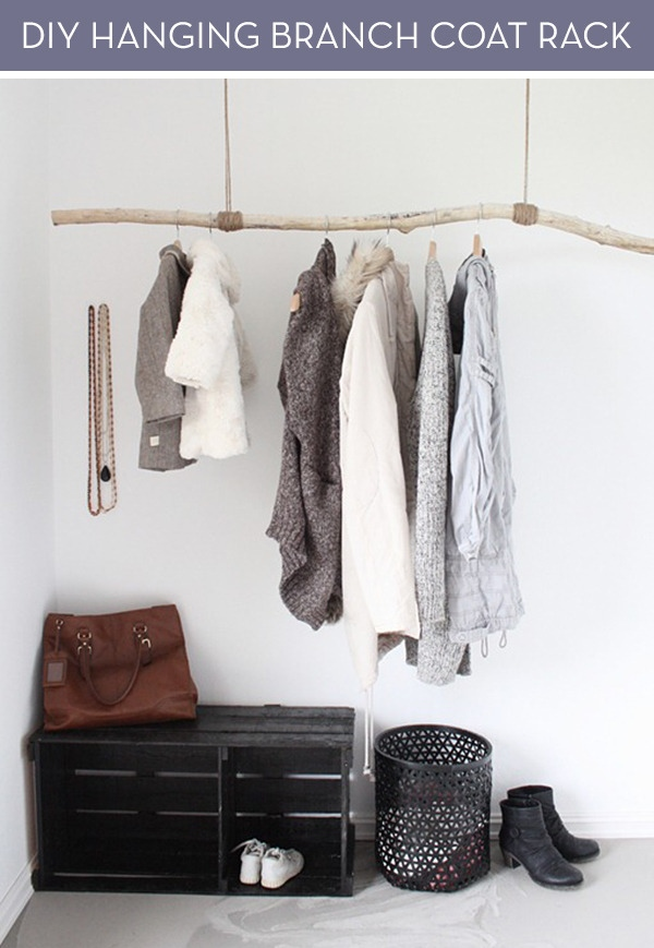 Hanging Branch Clothing Rack By Curbly