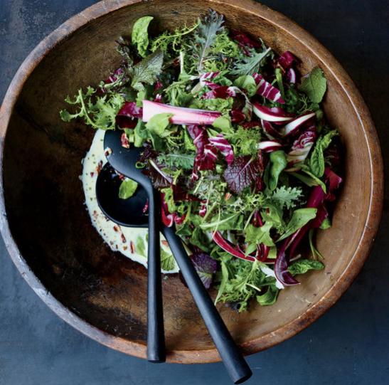 Winter Greens Salad & Buttermilk Dressing
