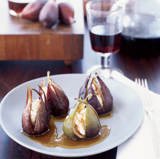 Goat Cheese-Stuffed Roasted Figs