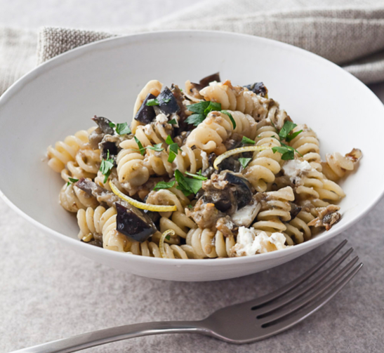 Fusilli Roasted Eggplant & Goat Cheese