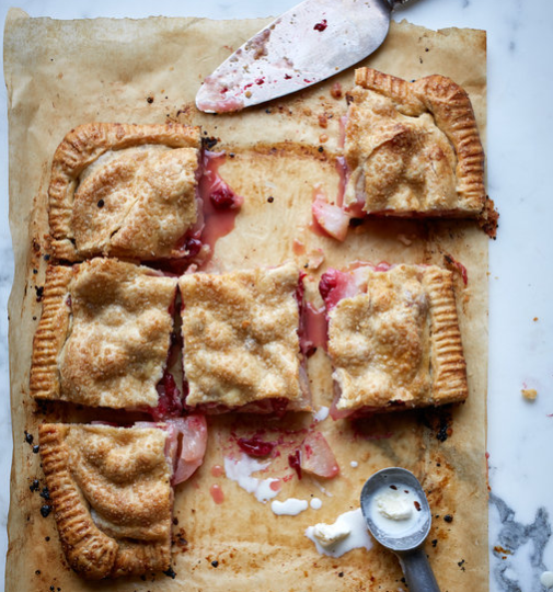 Pear & Cranberry Slab Pie