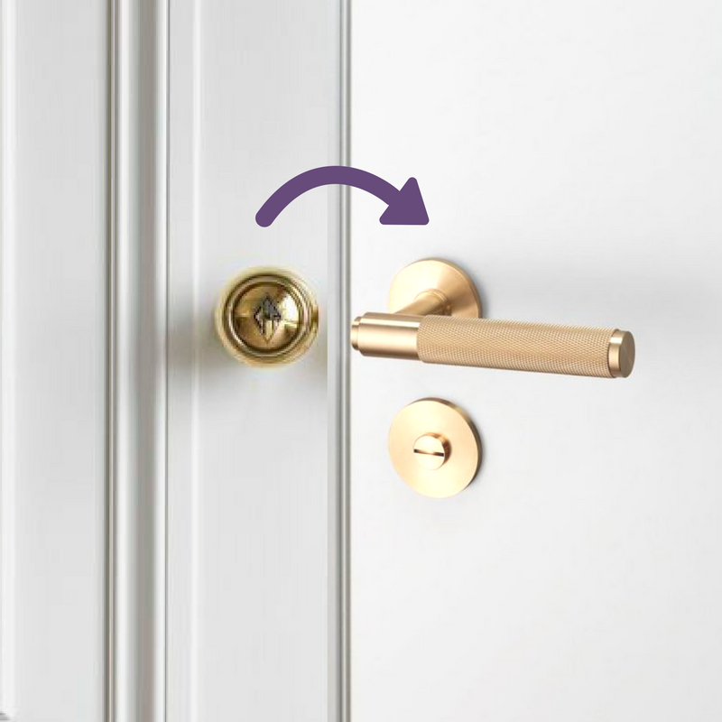 Replace Door Knobs, Click On Photo For DIY