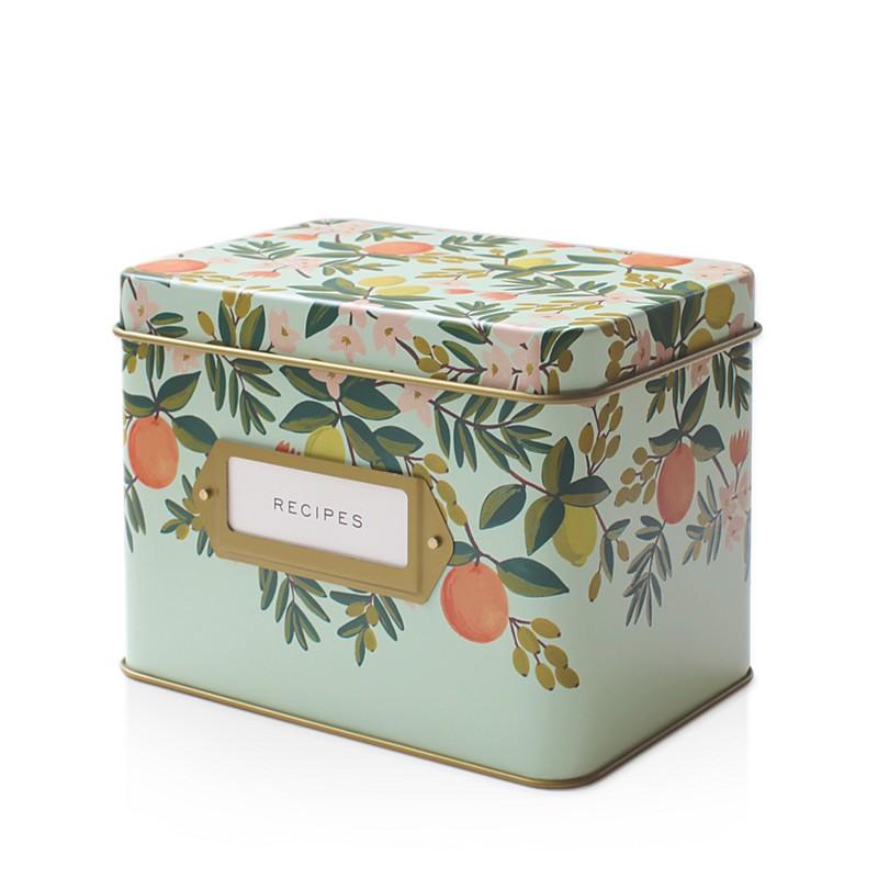 $34.00 Tin Recipe Box