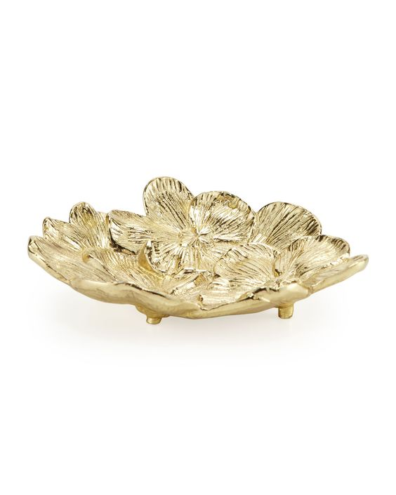 $31.20 Gold Orchid Dish