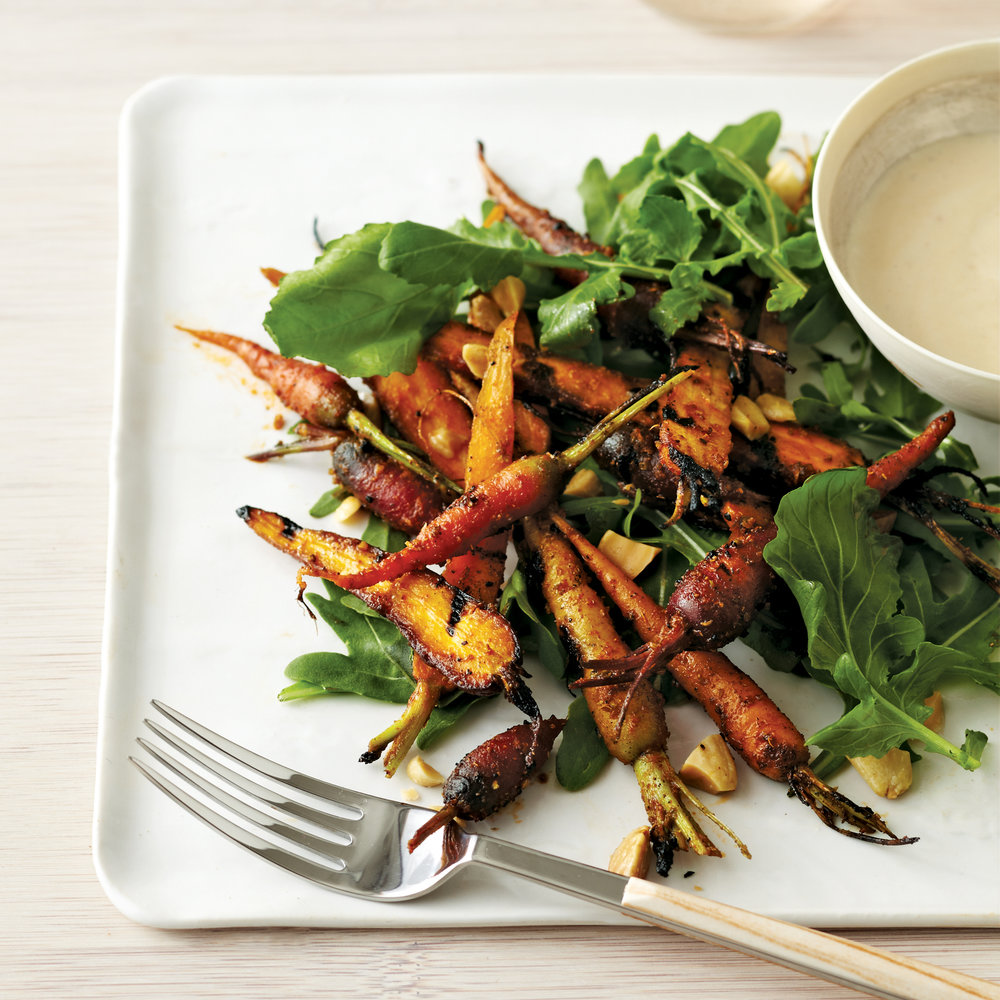 Grilled Carrot Salad with Brown Butter Vinaigrette -