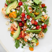 Shrimp Salad with Hominy, Arugula, & Lime -