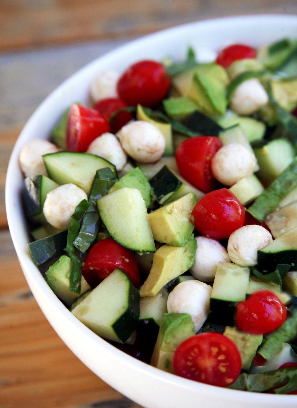 Cucumber Caprese Salad -