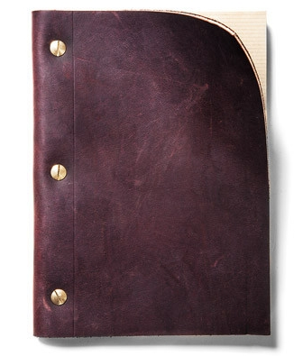 $8.30 Refillable Leather Notebook