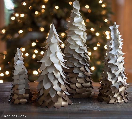 DIY Ombre Trees -