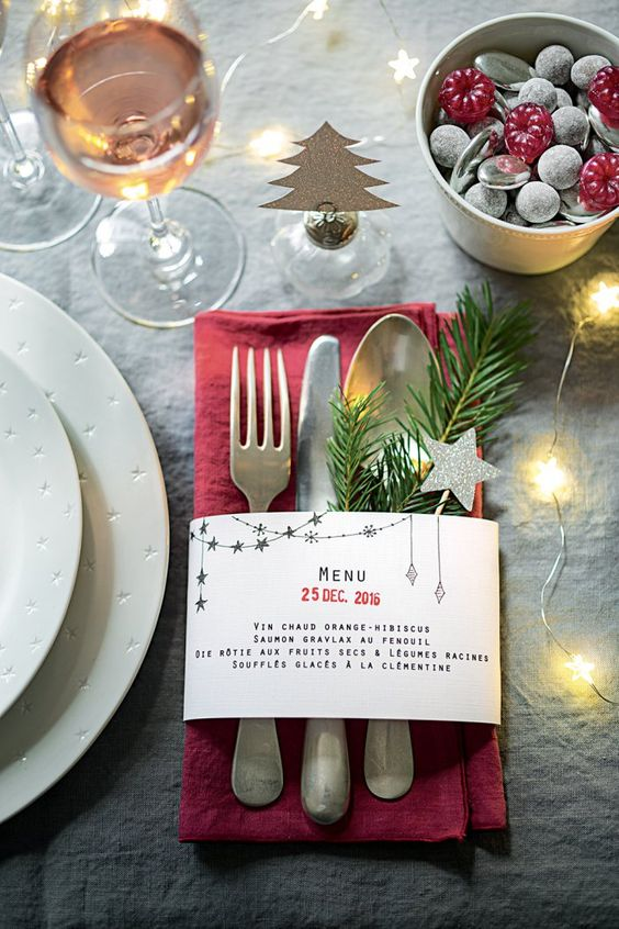 Festive Menu Cards - Simply create and print out festive holiday menus to add a special touch to your table this season.