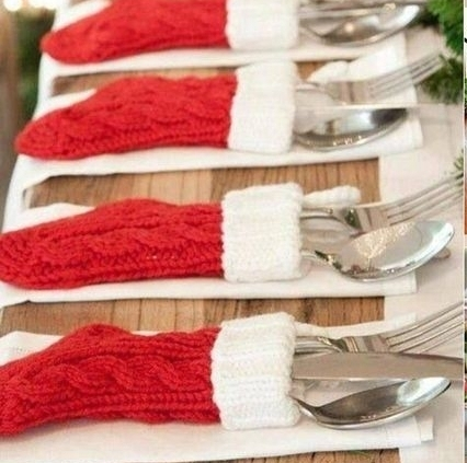 Mini Stockings  - Use mini stockings for silverwear or to hold napkins.