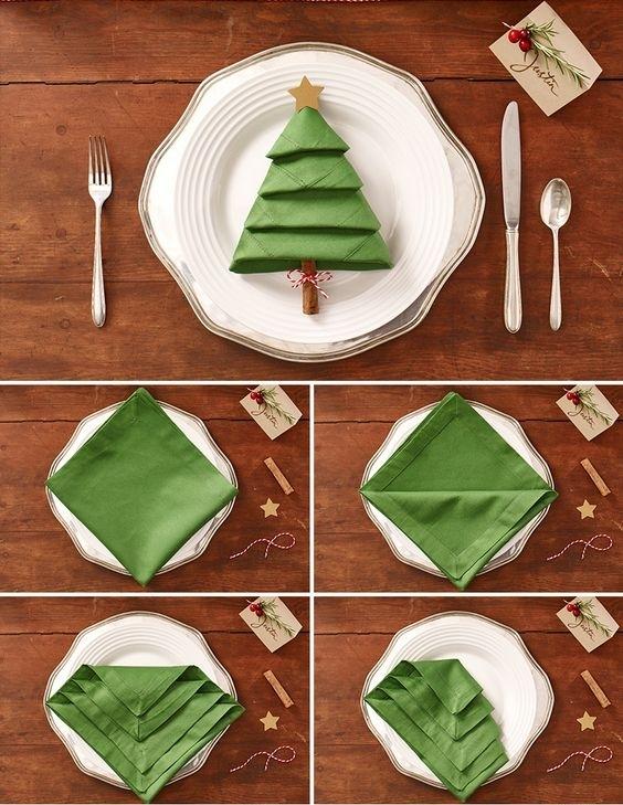 DIY Napkin Trees -