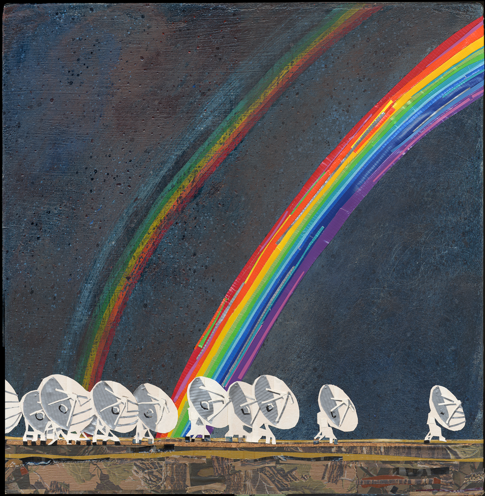 SOUTH OF 7th HEAVEN: Radio Telescopes Probe The Rainbow-Streaked Skies Picking Up Radio Waves That Have Been Traveling From Distant Galaxies For Billions of Years