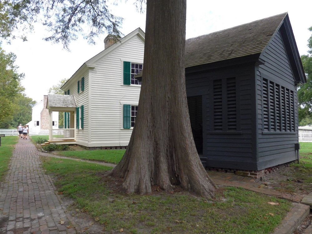 By 1865, more than 50 buildings were clustered on this site, including 26 slave quarters.