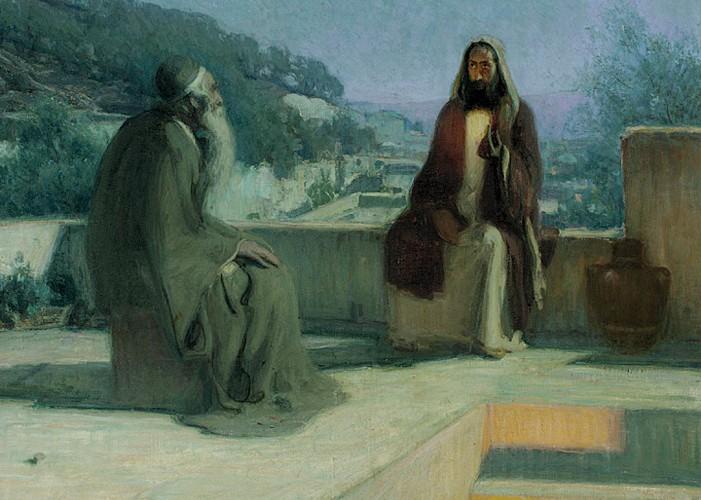 """""""Nicodemus""""  Henry O. Tanner (1859-1937)  Bible (John 3:1-21)"""