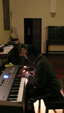 Carman Composing in His Fellowship Quarters At Civitella Castle, Umbria Italy