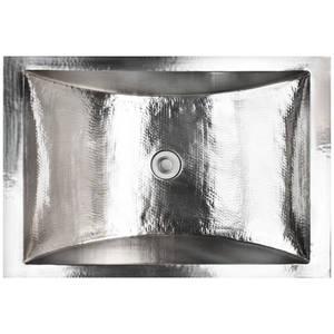 Metal Kitchen Sinks Hammered stainless steel linkasink rectangle workwithnaturefo