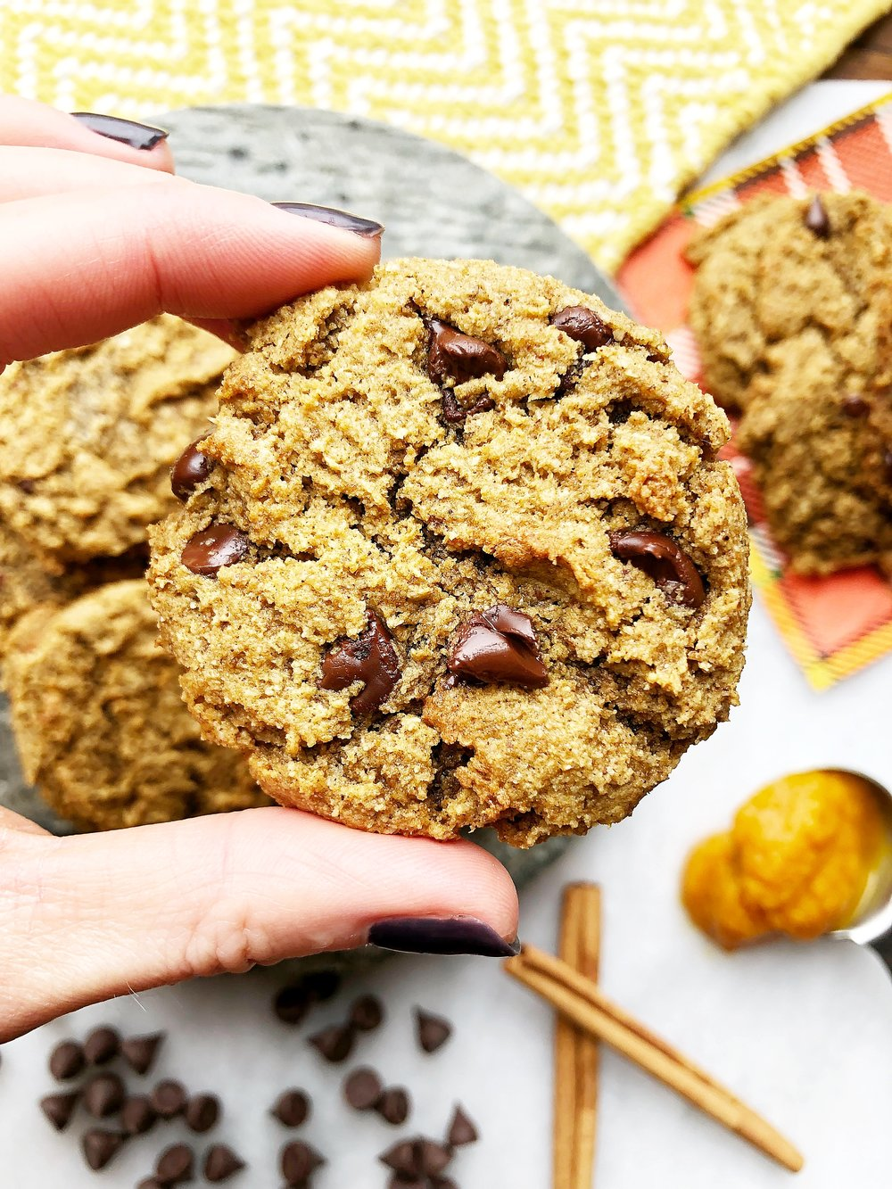 Pumpkin Chocolate Chip Power Cookies