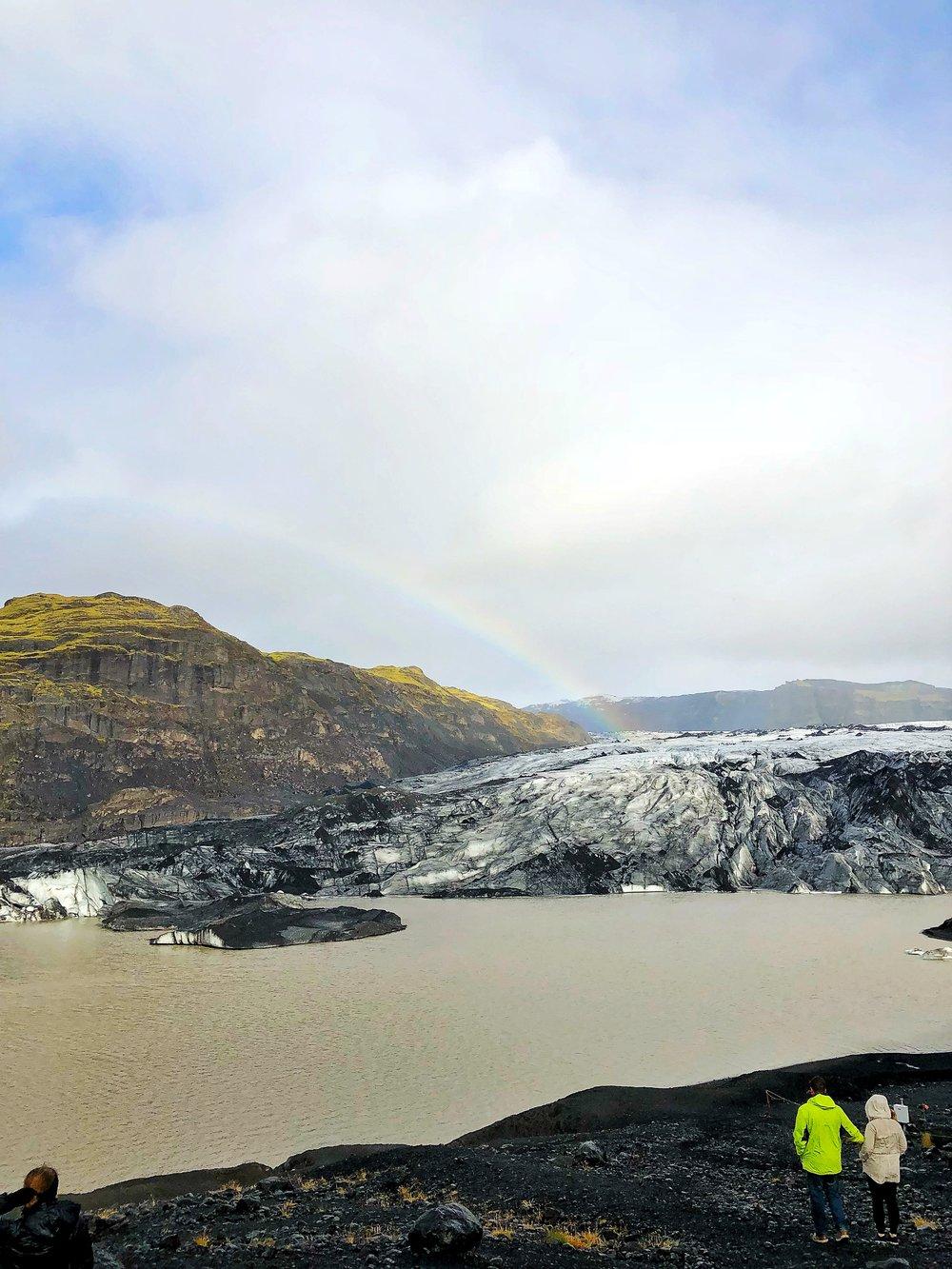 A peek of Sólheimajökull glacier