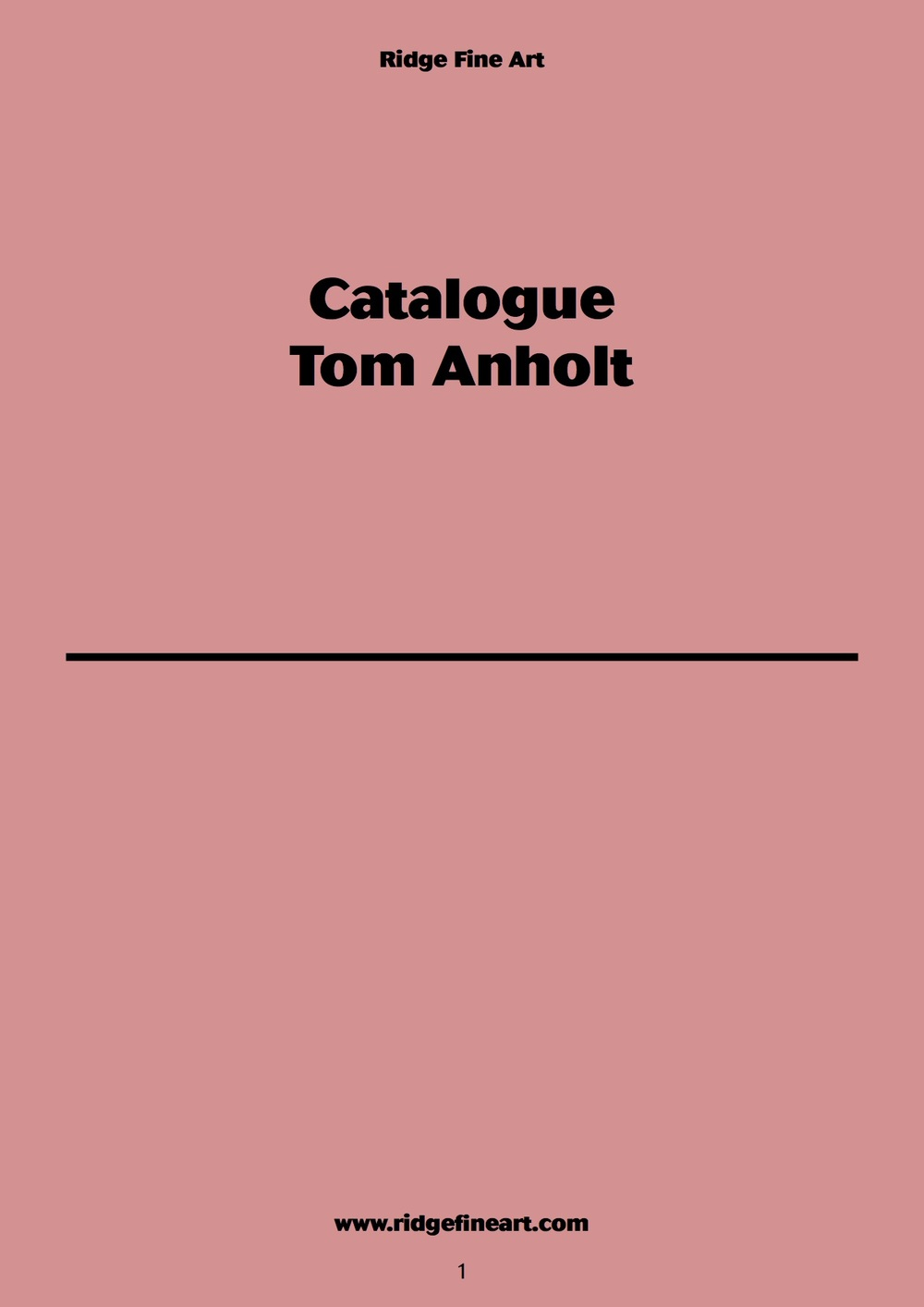 Catalogue Tom Anholt | Ridge Fine Art