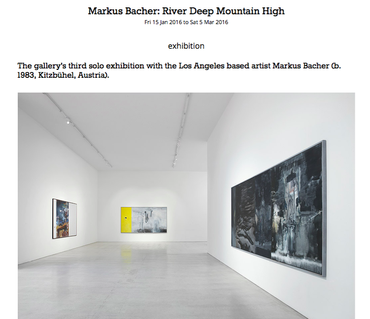 Galleriesnow.net | January 2016 | Markus Bacher