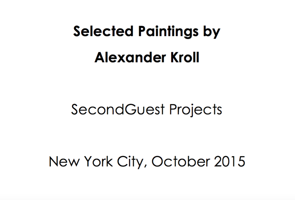 SecondGuest Projects | October 2015 | Alexander Kroll